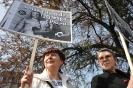 Demonstracja przeciw zatrzymaniu dziennikarza