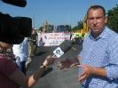 Protest wykonawców Trasy Sucharskiego